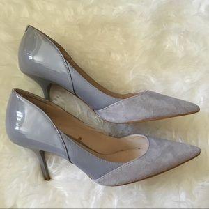 Zara mixed media heels